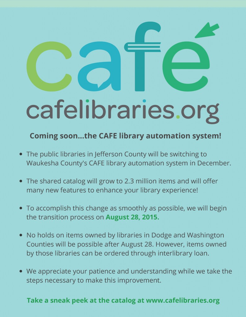CAFE patron flyer announcement