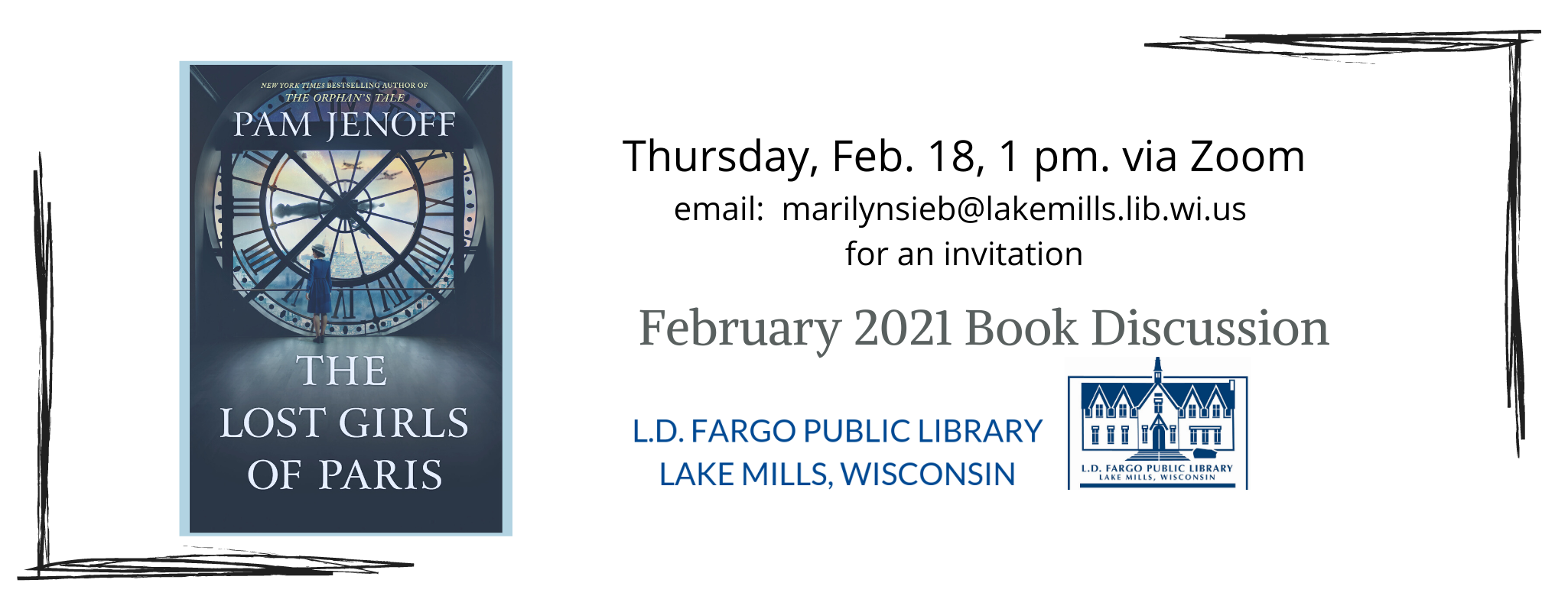 FEBRUARY BOOK CLUB POSTER
