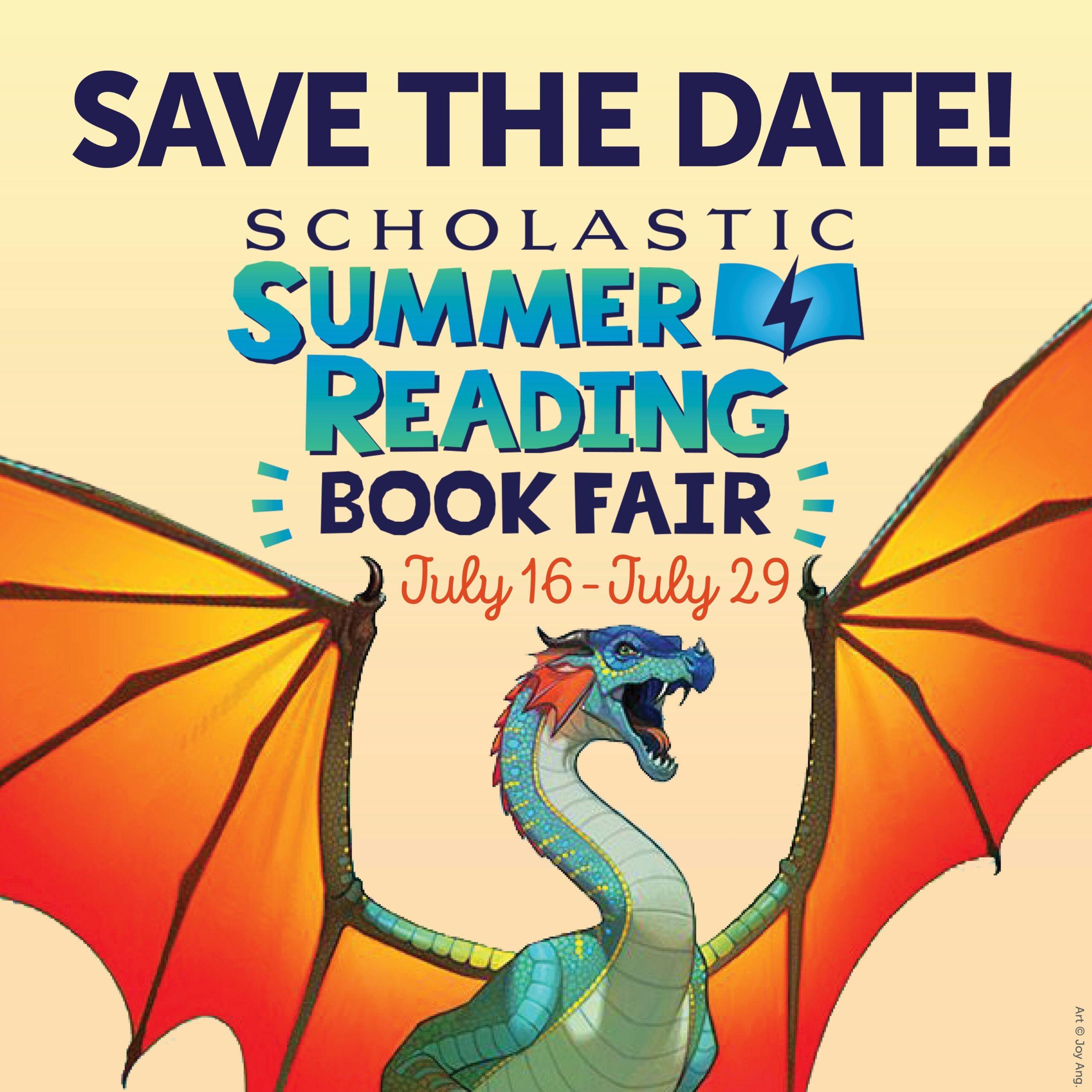Virtual Scholastic Book Fair July 16-July 29!